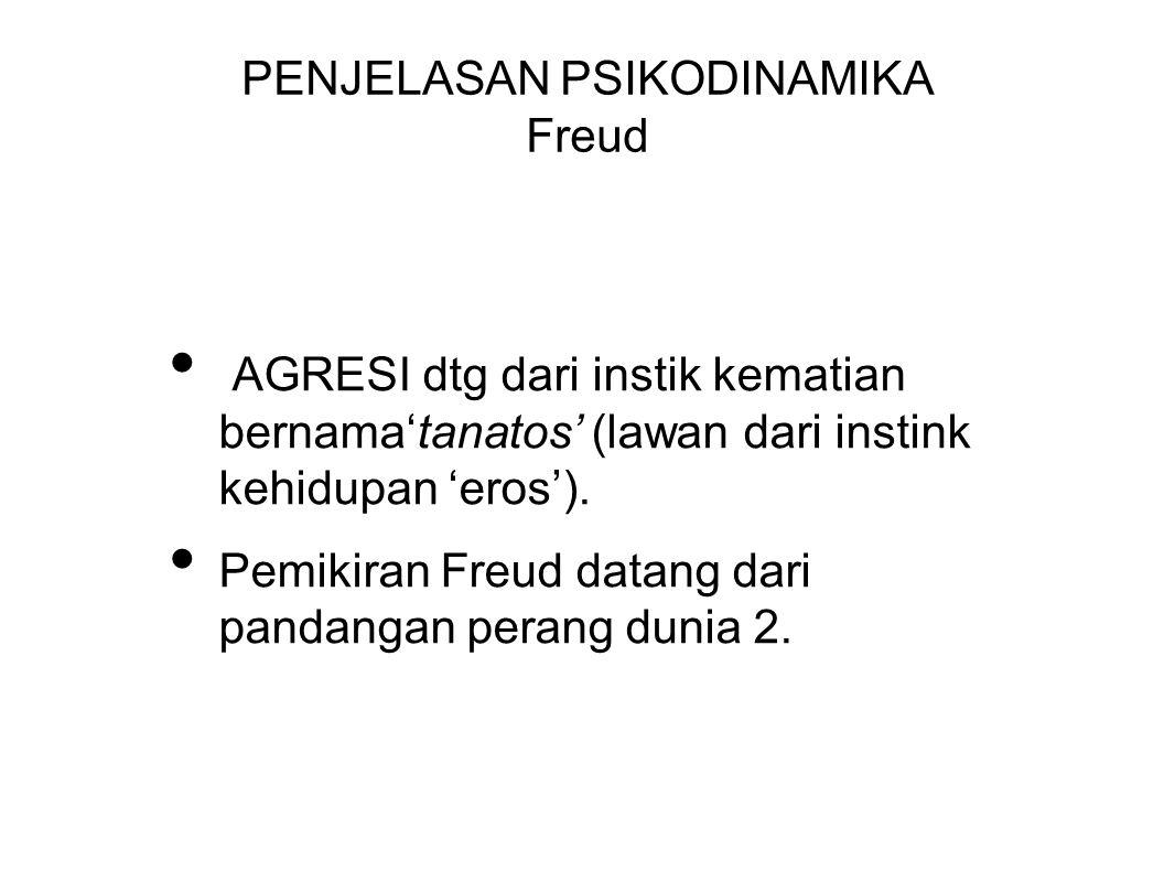 PENJELASAN PSIKODINAMIKA Freud
