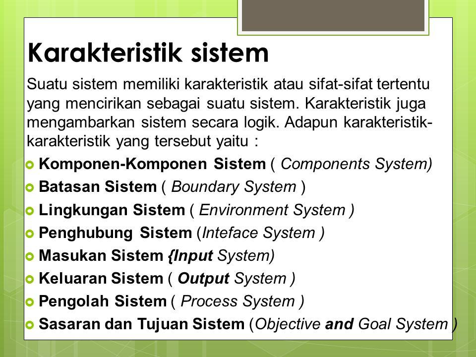 Karakteristik sistem