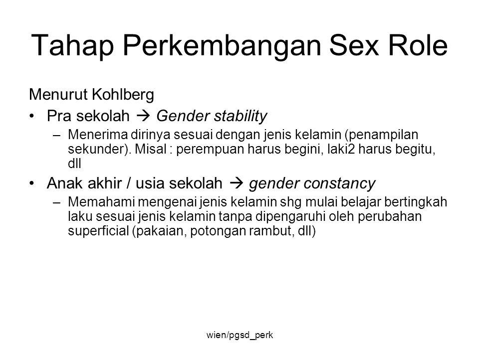 Tahap Perkembangan Sex Role