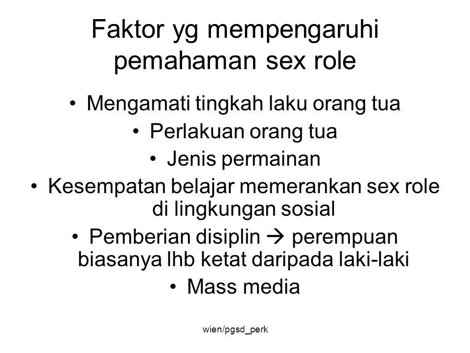 Faktor yg mempengaruhi pemahaman sex role