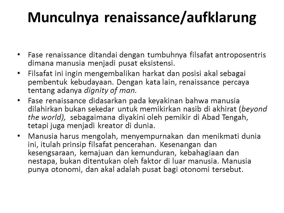 Munculnya renaissance/aufklarung