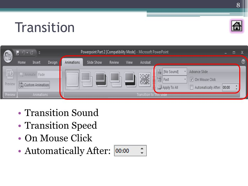 Transition Transition Sound Transition Speed On Mouse Click