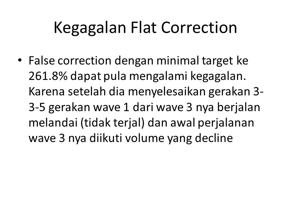 Kegagalan Flat Correction