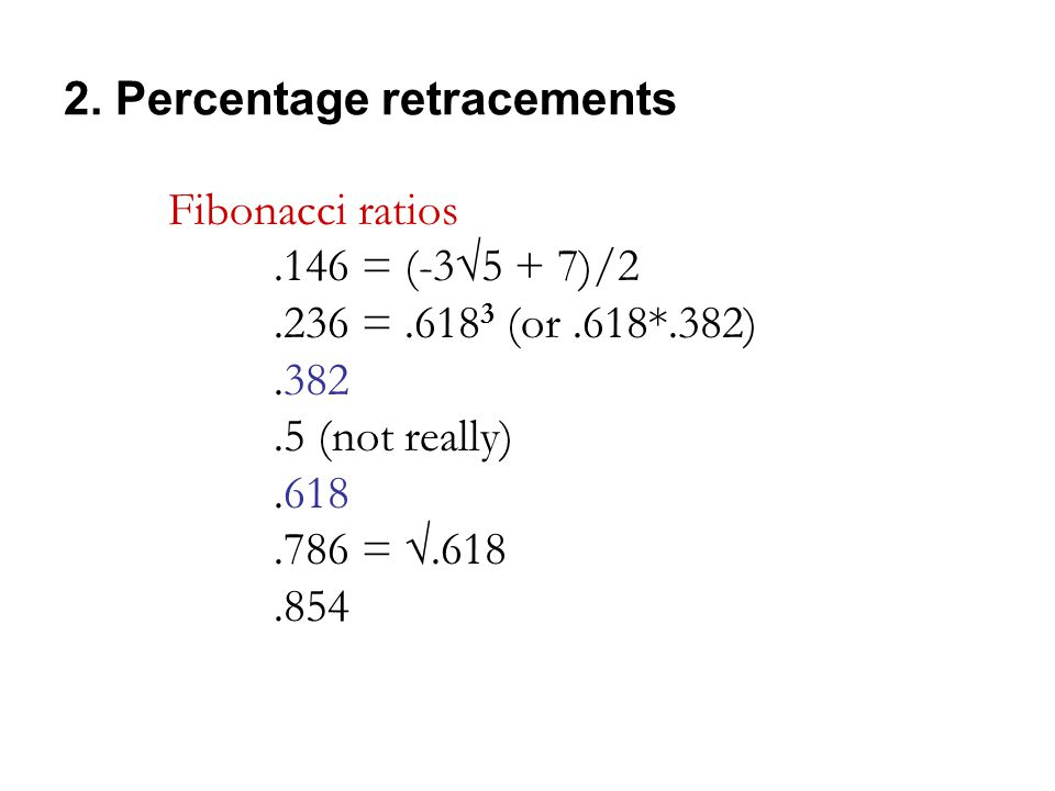 2. Percentage retracements