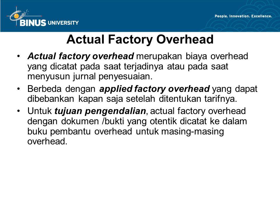 Actual Factory Overhead