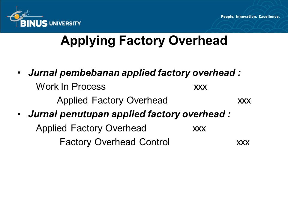 Applying Factory Overhead