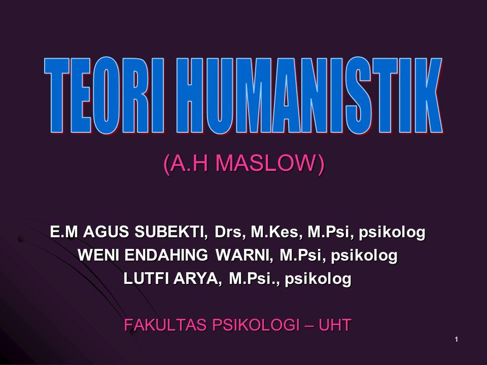 TEORI HUMANISTIK (A.H MASLOW)