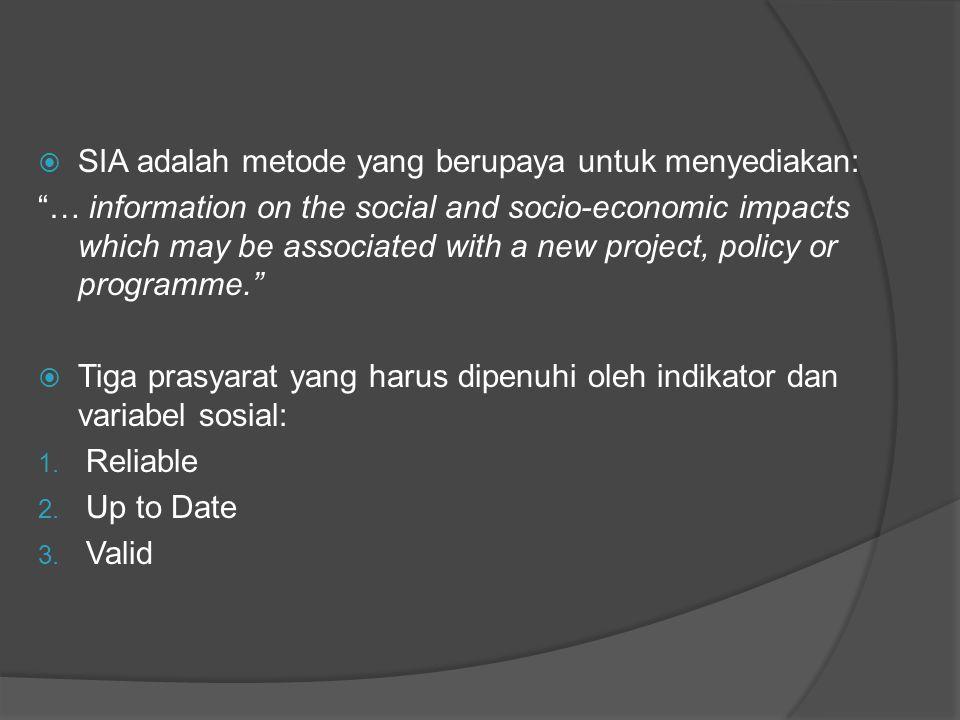 SIA adalah metode yang berupaya untuk menyediakan:
