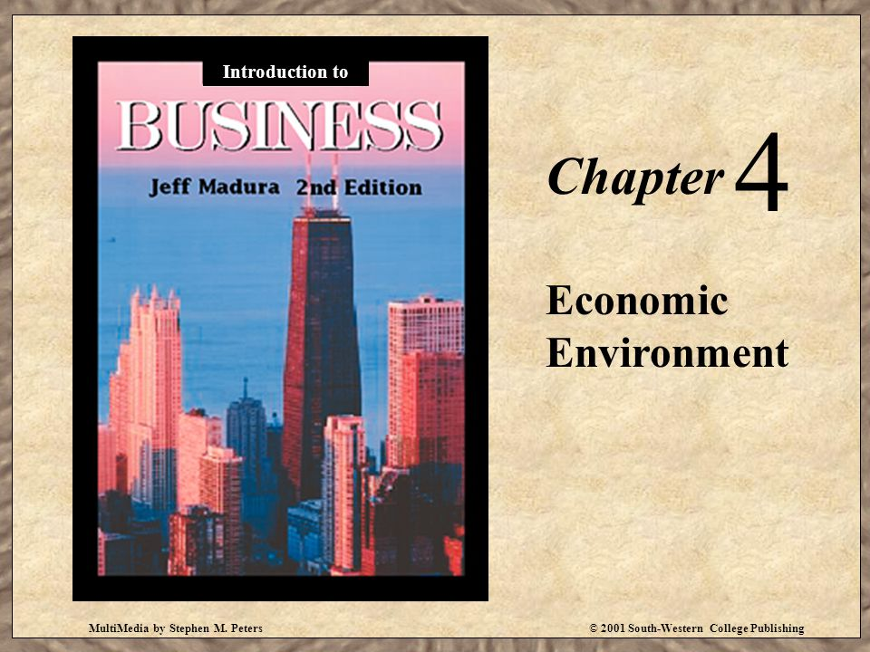 4 Chapter Economic Environment Introduction to