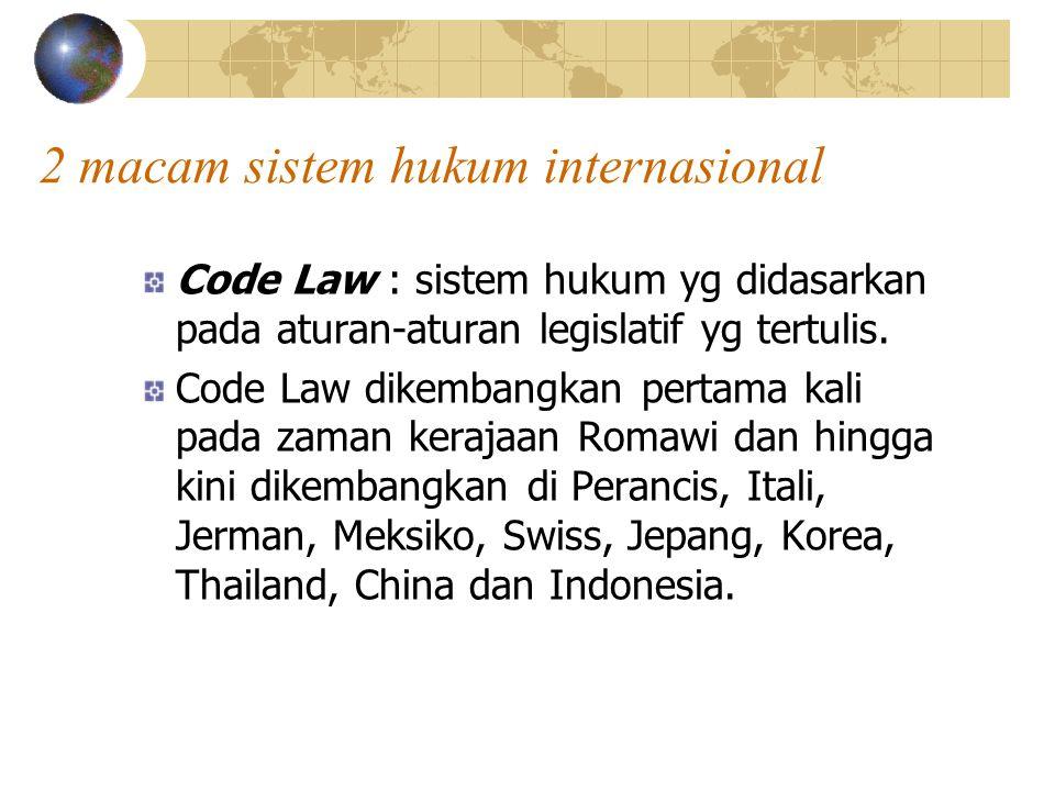 2 macam sistem hukum internasional