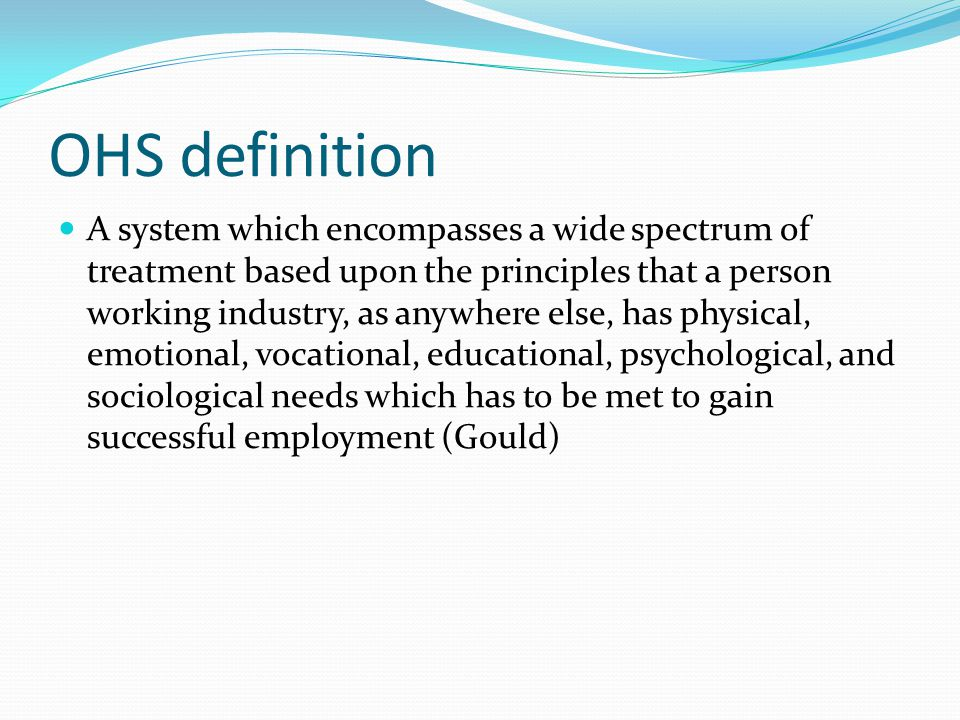 OHS definition
