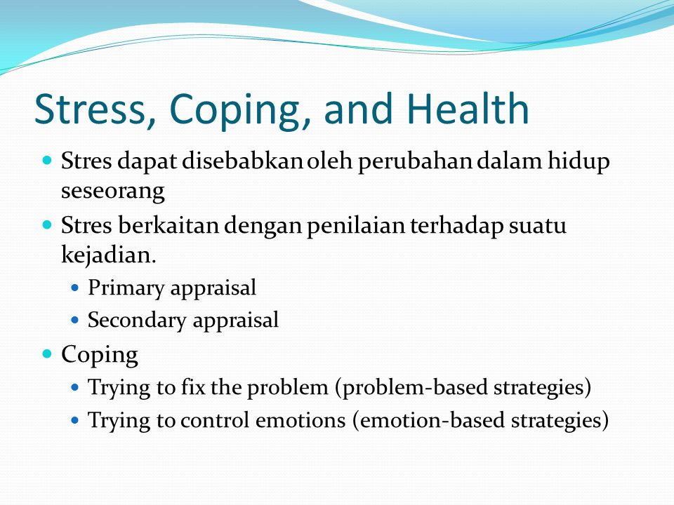 Stress, Coping, and Health