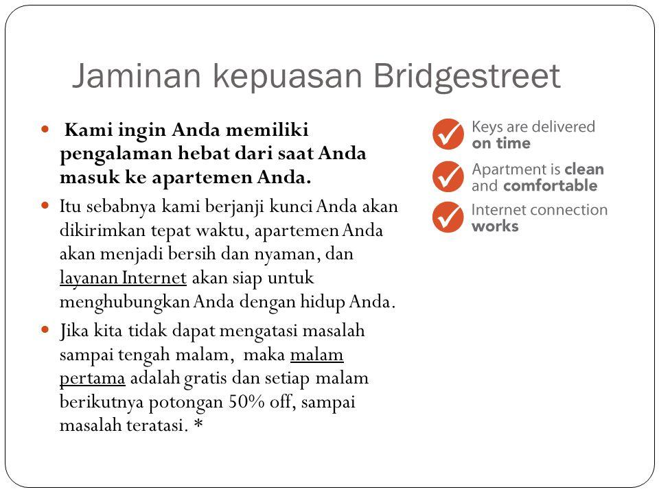 Jaminan kepuasan Bridgestreet