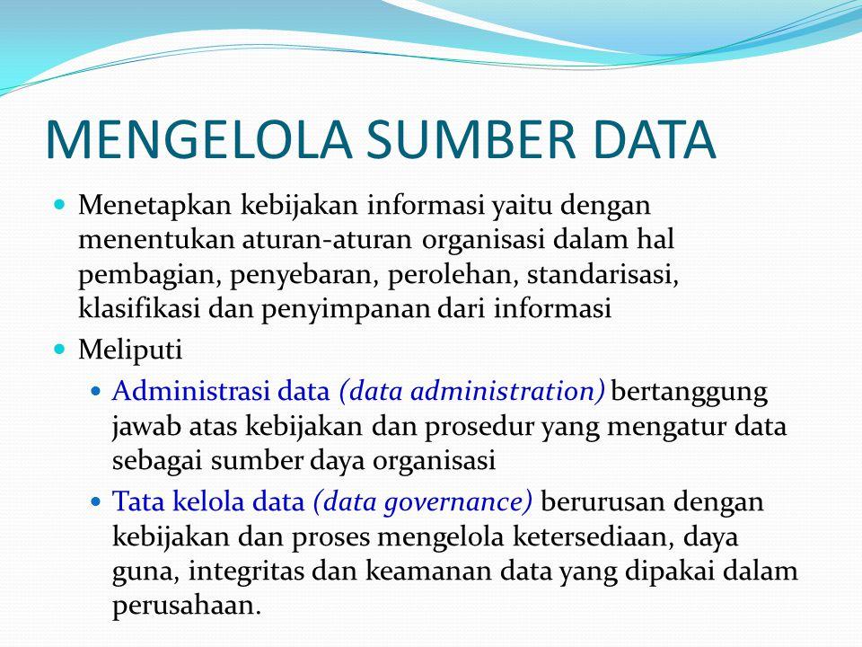 MENGELOLA SUMBER DATA