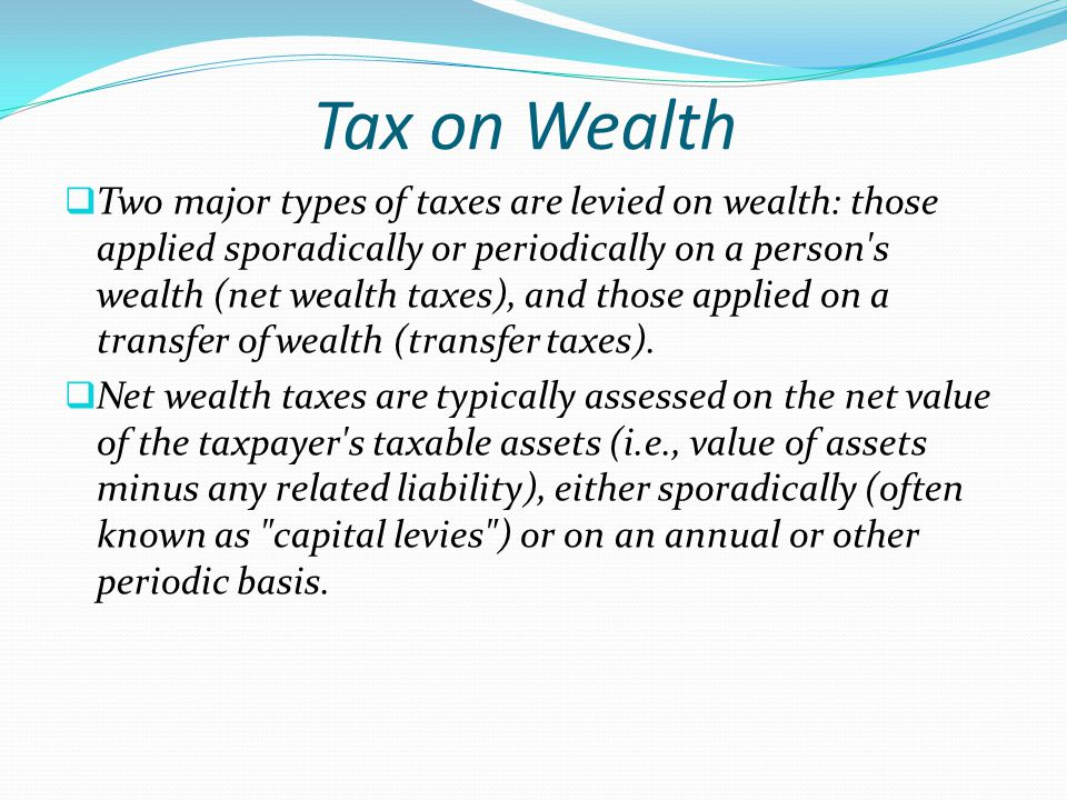 Tax on Wealth