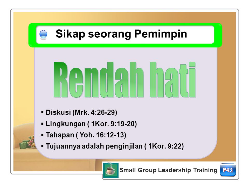 Small Group Leadership Training