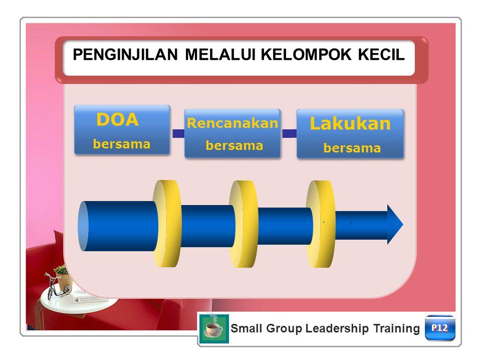 PENGINJILAN MELALUI KELOMPOK KECIL Small Group Leadership Training