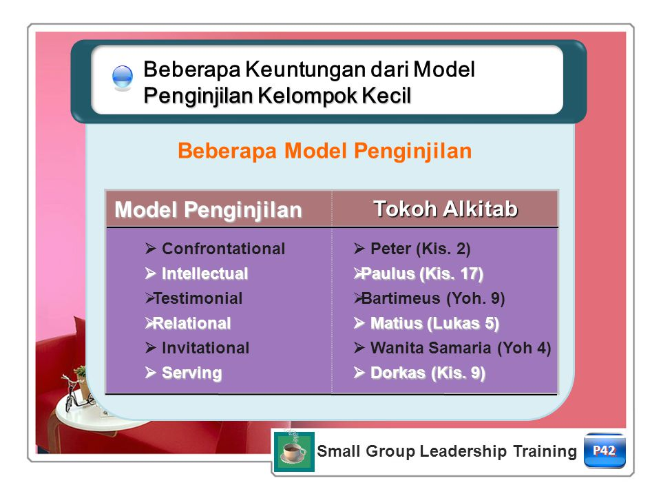 Beberapa Model Penginjilan Small Group Leadership Training