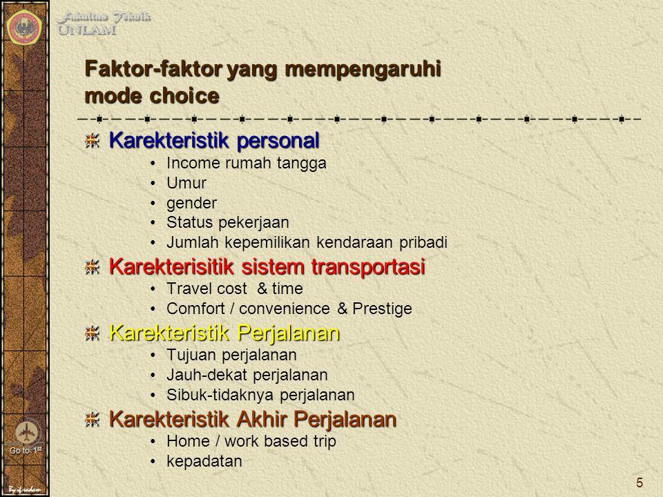 Faktor-faktor yang mempengaruhi mode choice