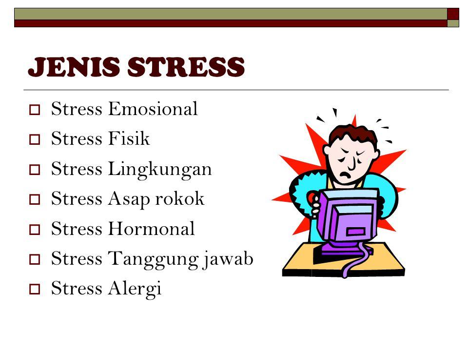 JENIS STRESS Stress Emosional Stress Fisik Stress Lingkungan