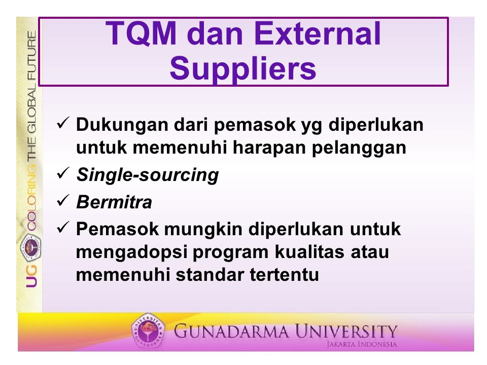 TQM dan External Suppliers