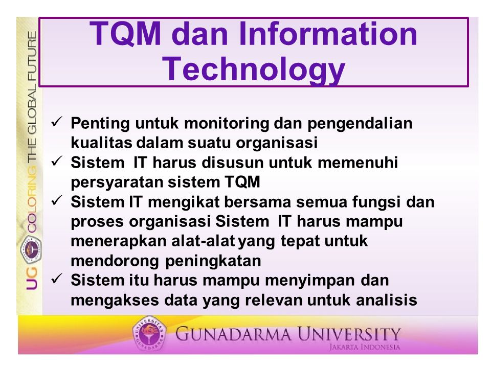 TQM dan Information Technology