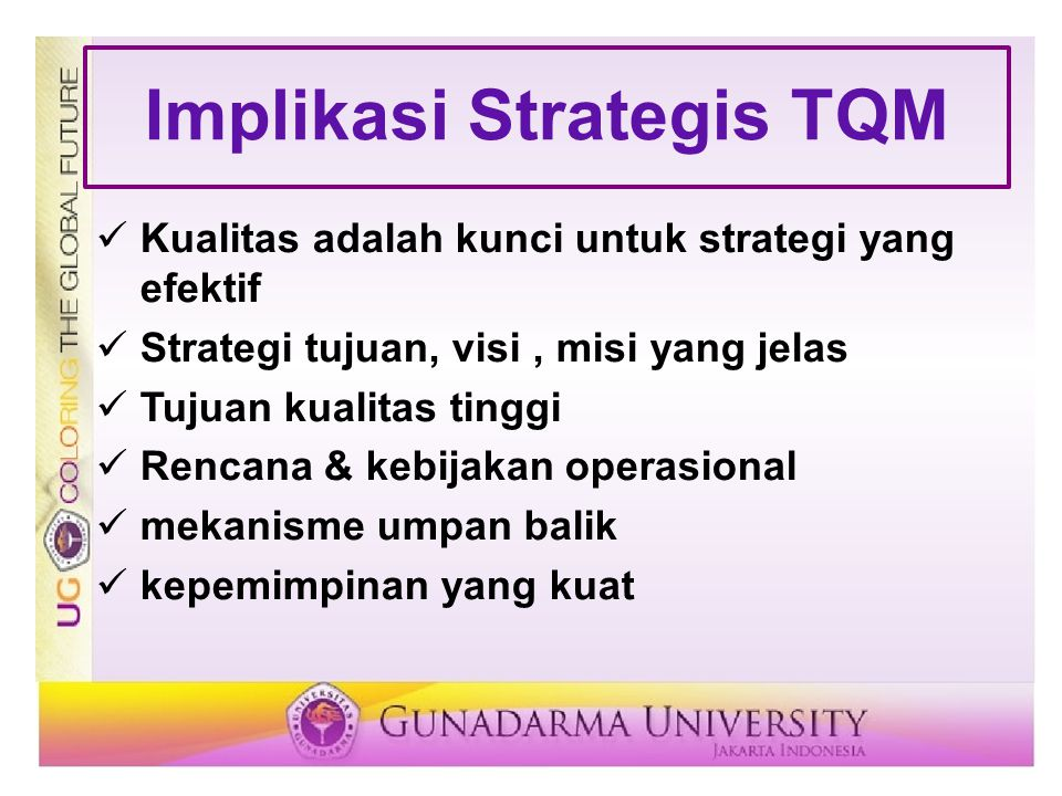 Implikasi Strategis TQM
