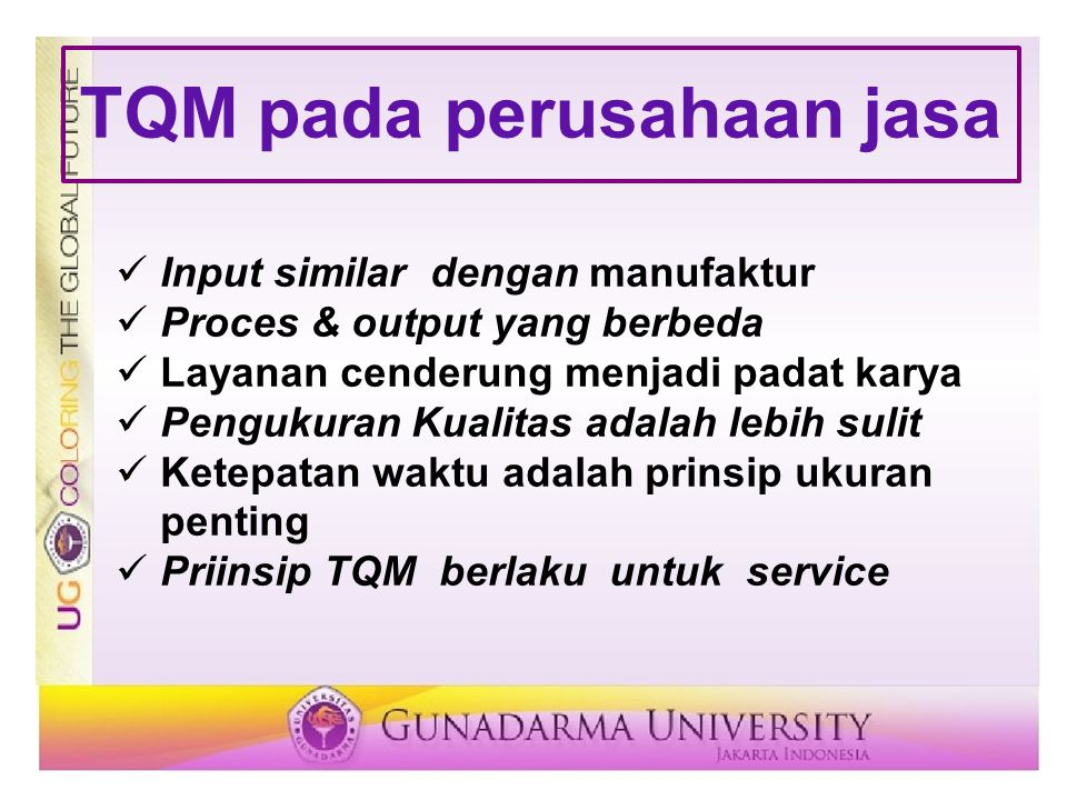 TQM pada perusahaan jasa