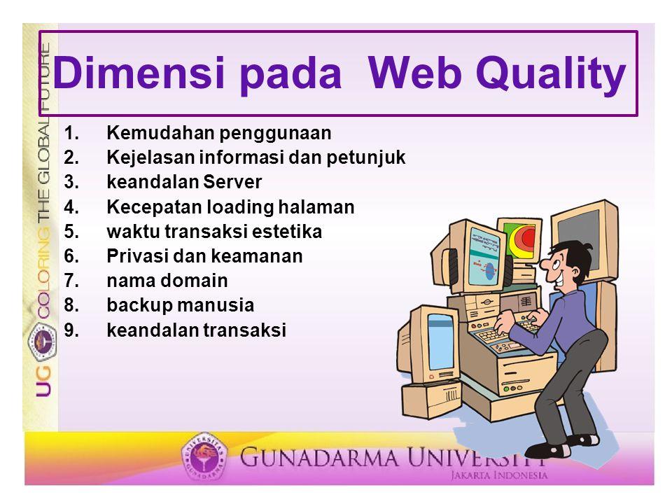 Dimensi pada Web Quality
