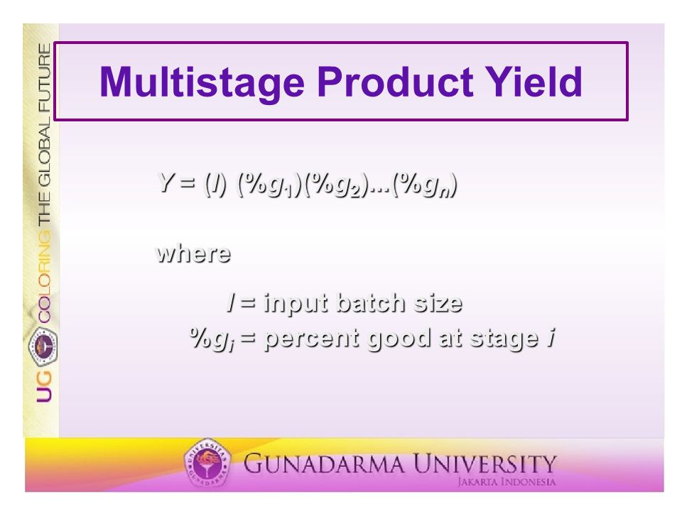 Multistage Product Yield