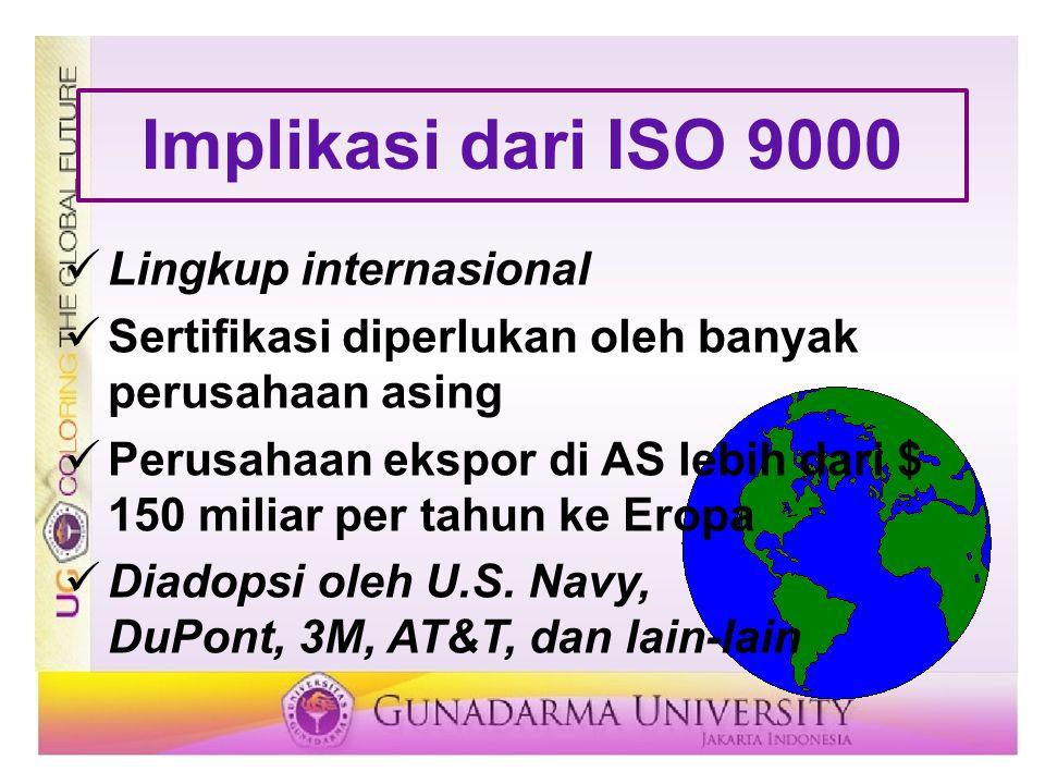Implikasi dari ISO 9000 Lingkup internasional