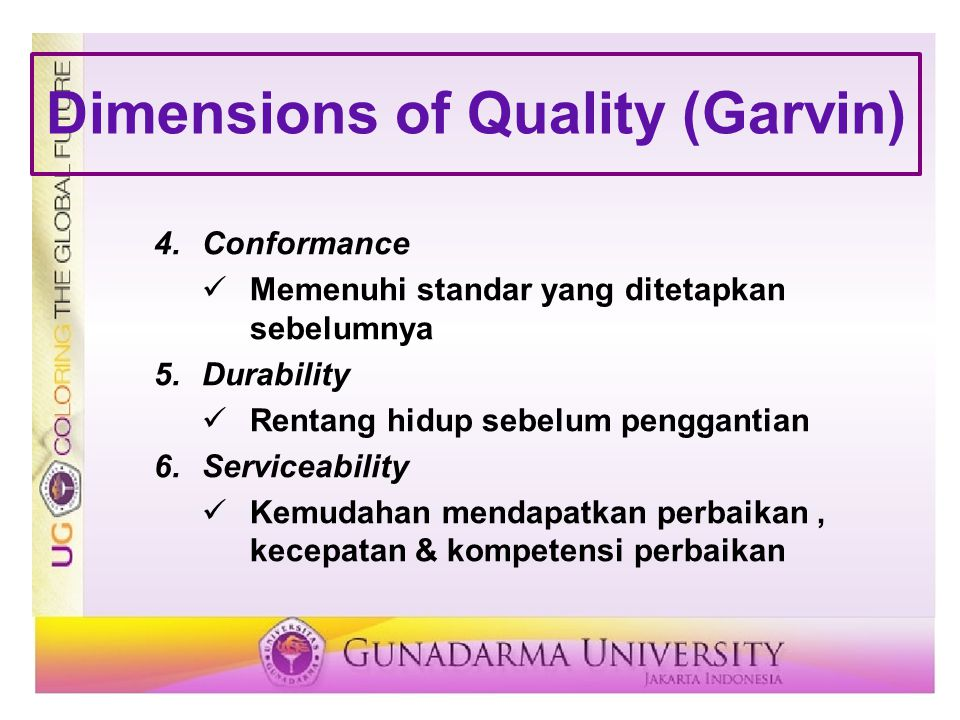 Dimensions of Quality (Garvin)