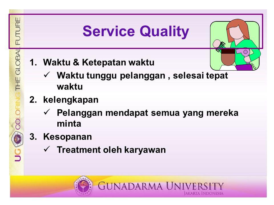 Service Quality Waktu & Ketepatan waktu