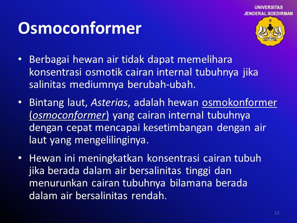 UNIVERSITAS JENDERAL SOEDIRMAN. Osmoconformer.