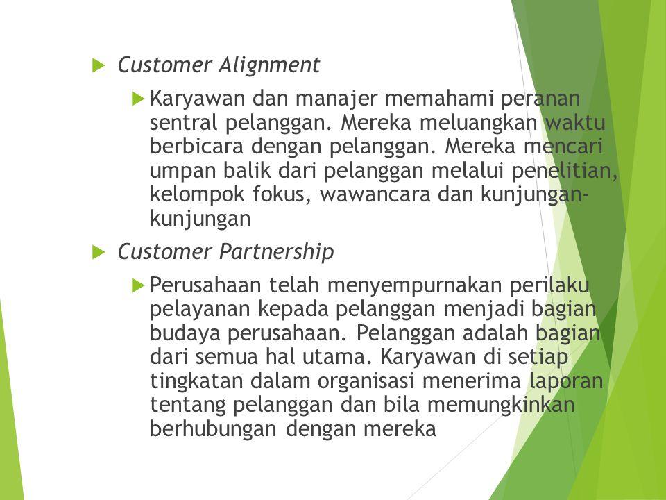 Customer Alignment