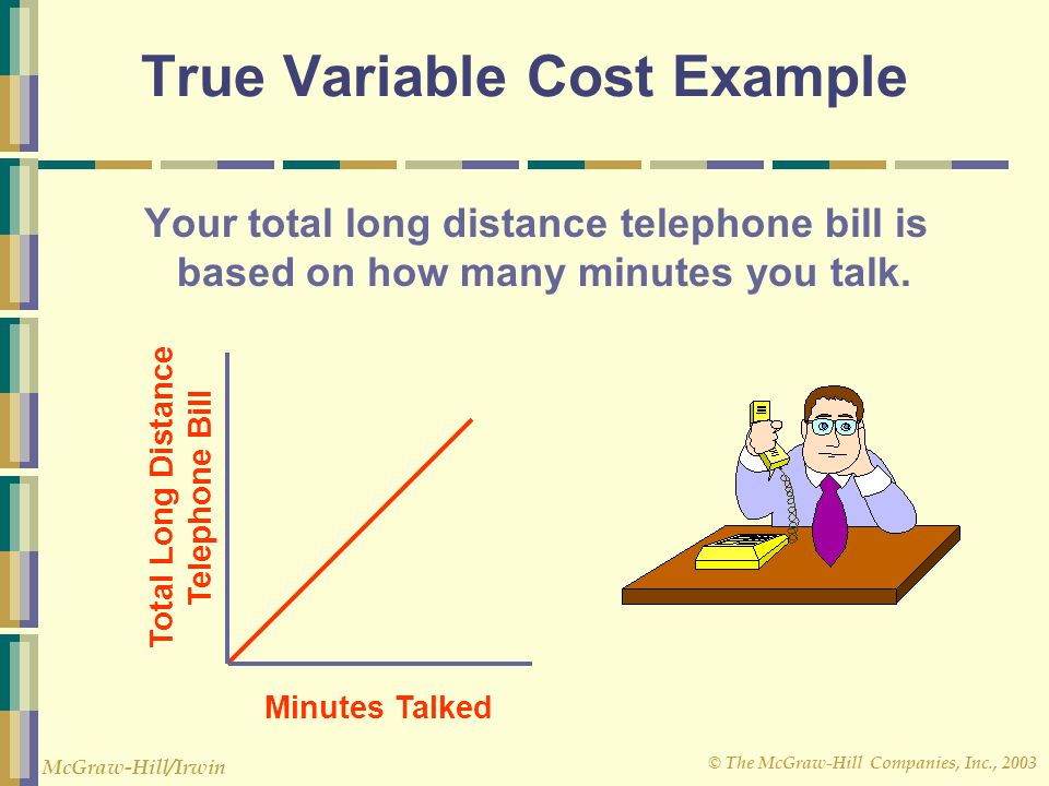True Variable Cost Example