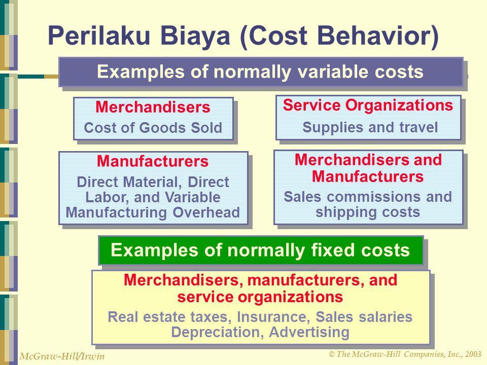 Perilaku Biaya (Cost Behavior)