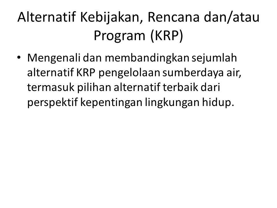 Alternatif Kebijakan, Rencana dan/atau Program (KRP)