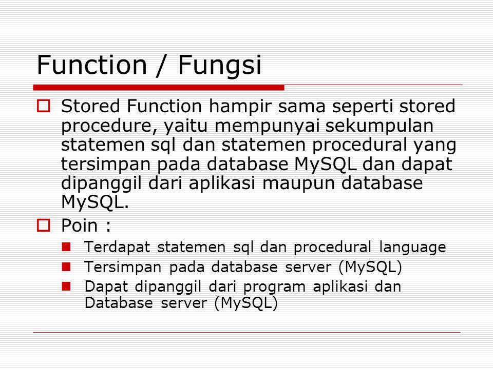 Function / Fungsi