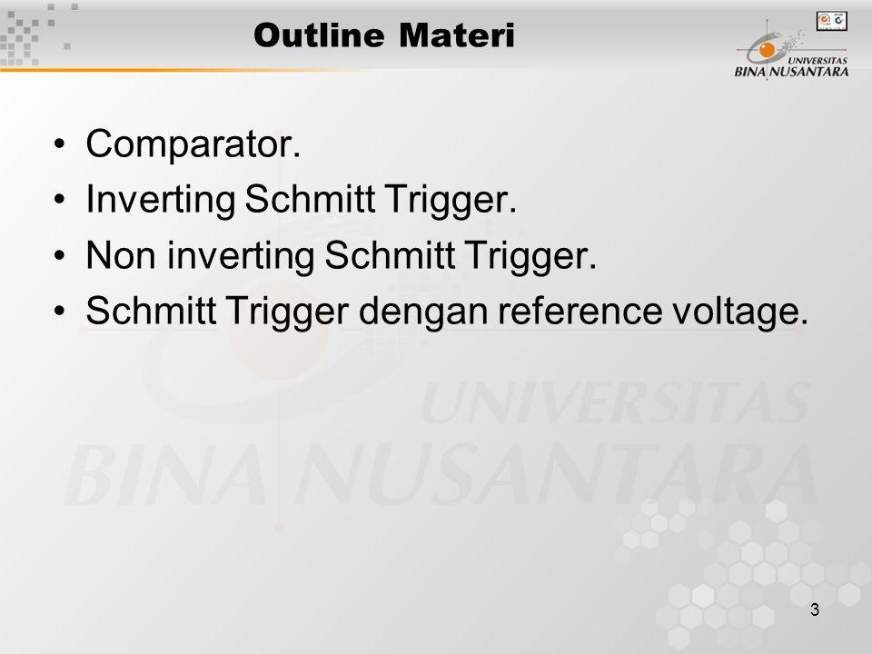 Inverting Schmitt Trigger. Non inverting Schmitt Trigger.