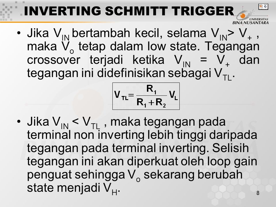 INVERTING SCHMITT TRIGGER