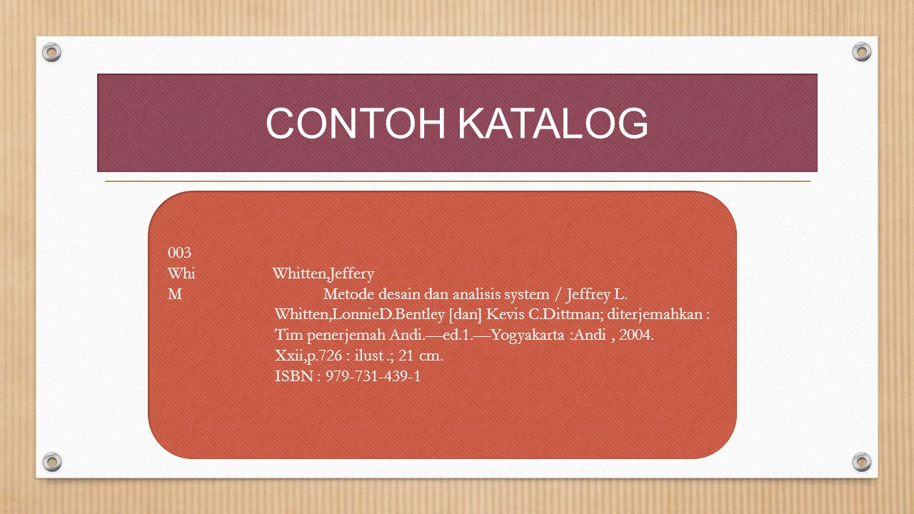 CONTOH KATALOG 003 Whi Whitten,Jeffery