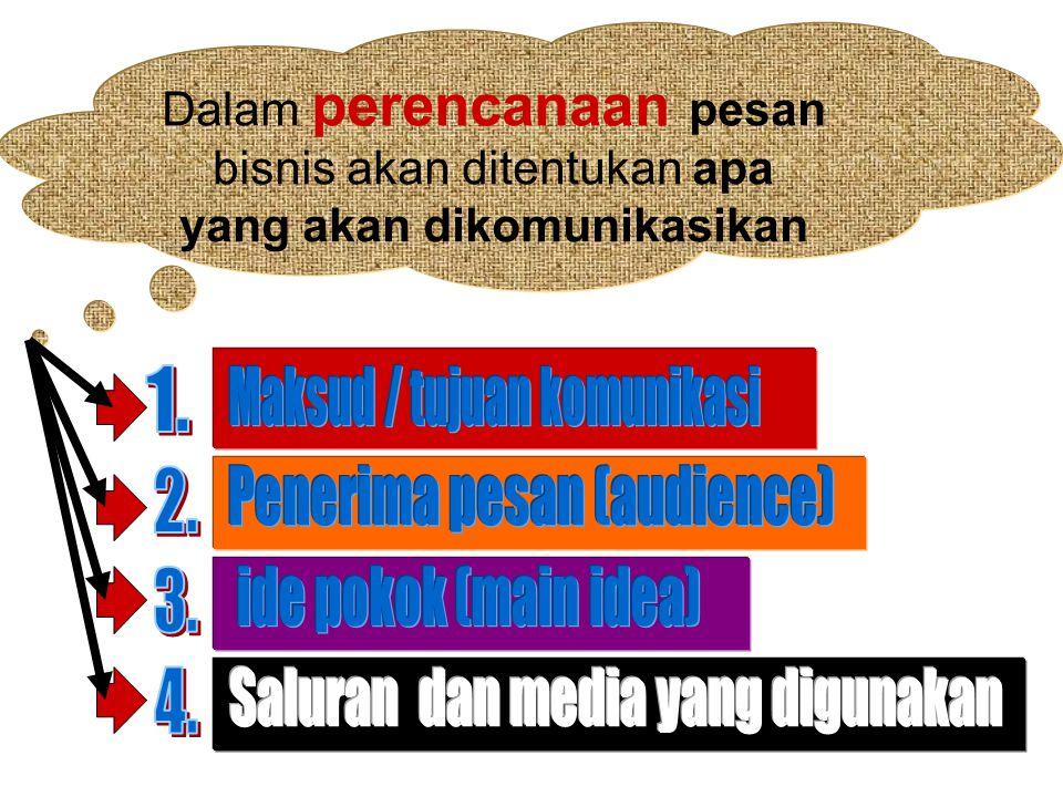 Maksud / tujuan komunikasi