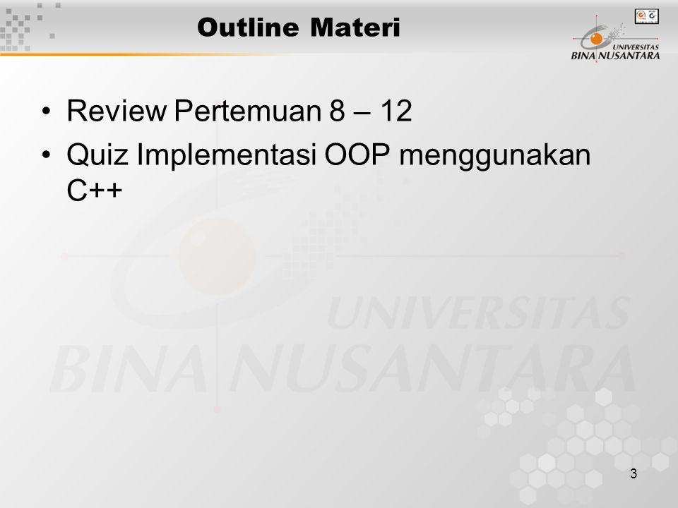 Quiz Implementasi OOP menggunakan C++