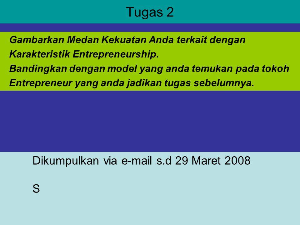 Tugas 2 Dikumpulkan via e-mail s.d 29 Maret 2008 S