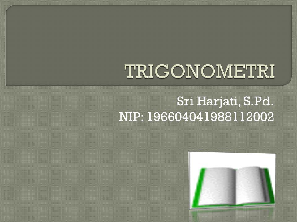 TRIGONOMETRI Sri Harjati, S.Pd. NIP: 196604041988112002