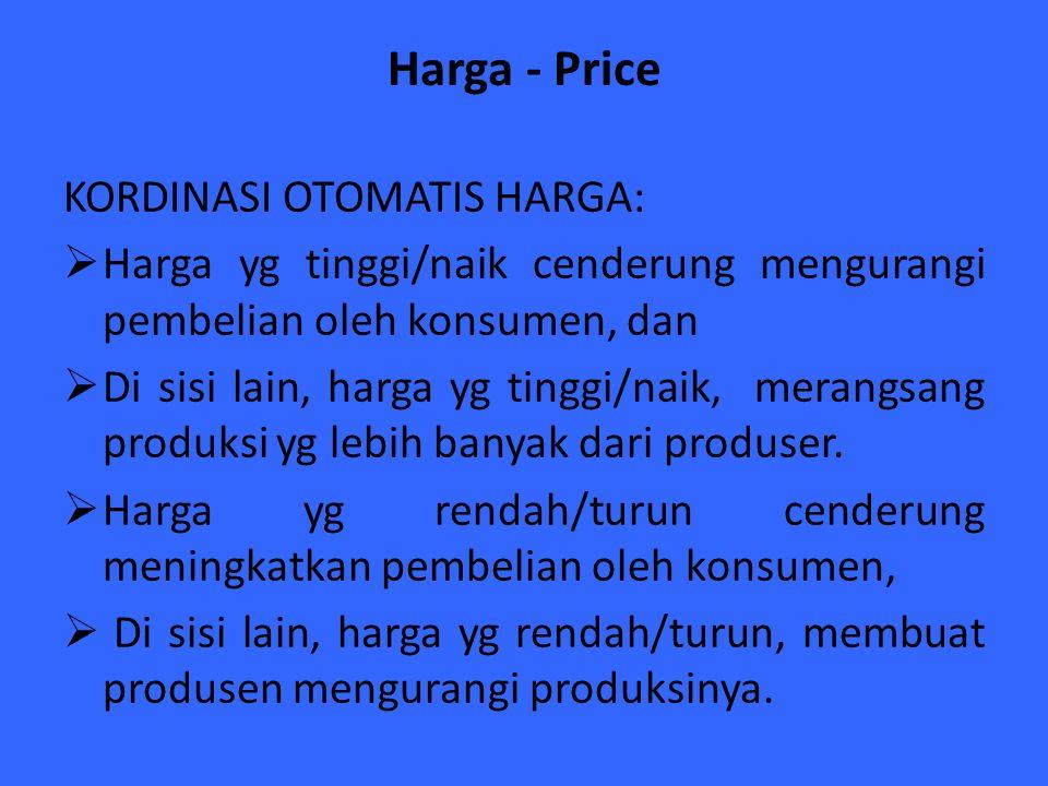Harga - Price KORDINASI OTOMATIS HARGA: