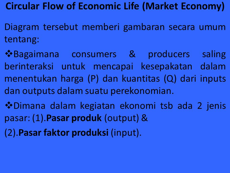 Circular Flow of Economic Life (Market Economy)