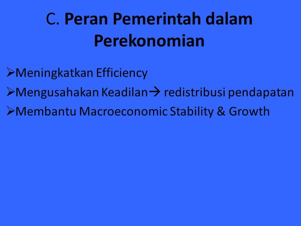C. Peran Pemerintah dalam Perekonomian