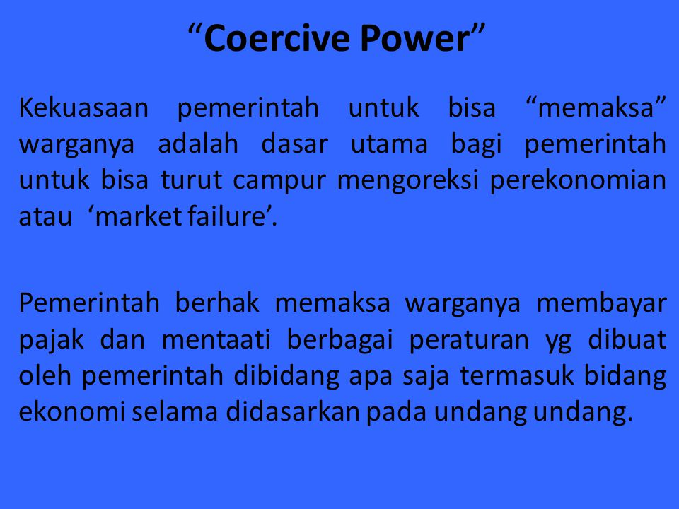 Coercive Power